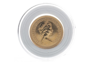 Lot 19-A QUEEN ELIZABETH II (1952 - PRESENT) GOLD SOVEREIGN DATED 1982