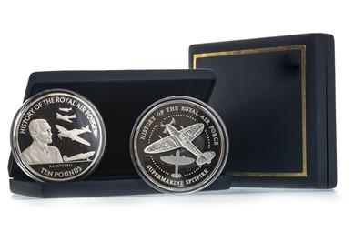 Lot 26-TWO 5oz RAF SILVER COINS