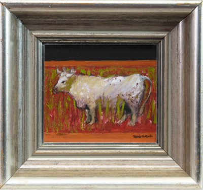 Lot 519-YOUNG BULL, AN OIL BY DAVID MCLEOD MARTIN