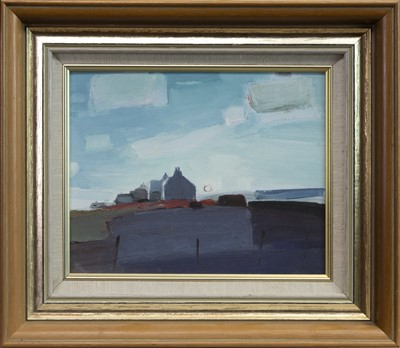 Lot 517-ABANDONED COTTAGES, AN OIL BY JOHN MCINTYRE