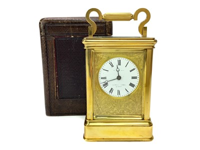 Lot 1112-A LATE 19TH CENTURY CARRIAGE CLOCK
