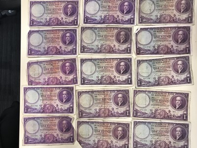 Lot 33-A LARGE COLLECTION OF SCOTTISH ONE POUND £1 NOTES