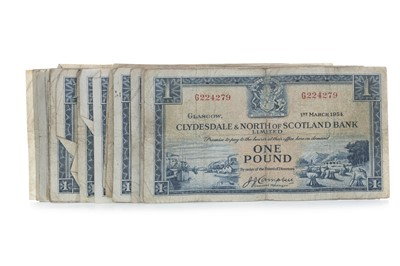 Lot 36 - A COLLECTION OF CLYDESDALE & NORTH OF SCOTLAND BANK LIMITED ONE POUND £1 NOTES