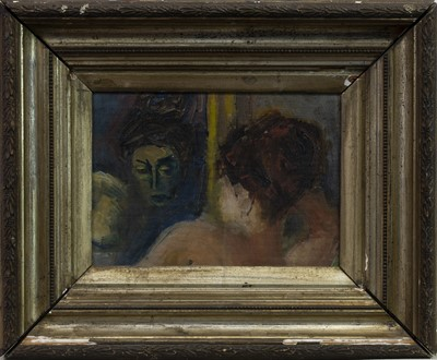 Lot 70 - HEADS, AN OIL BY MAX CHAPMAN