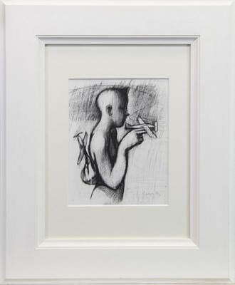 Lot 404-AN UNTITLED CHARCOAL BY KEITH MCINTYRE