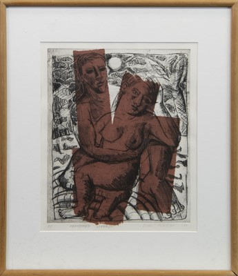 Lot 405-ABANDONED LOVERS, AN ETCHING BY EDORI FERTIG