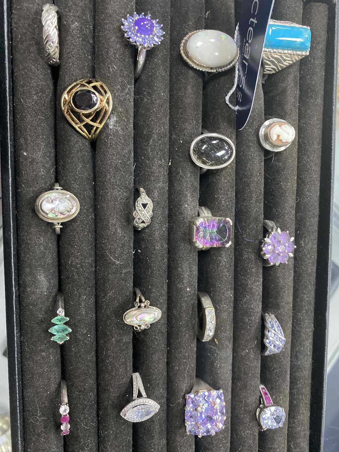 Lot 16-A COLLECTION OF SILVER DRESS RINGS