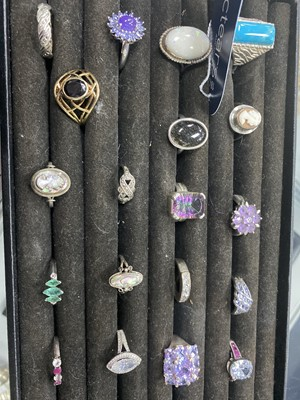 Lot 16A-A COLLECTION OF SILVER DRESS RINGS