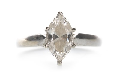 Lot 1383-A DIAMOND SOLITAIRE RING