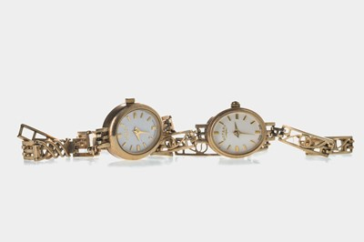 Lot 712-TWO LADY'S GOLD ROTARY WRIST WATCHES