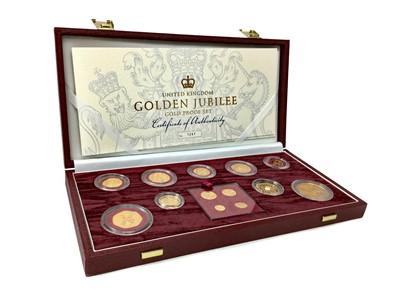 Lot 39-THE QUEEN ELIZABETH II (1952 - PRESENT) GOLDEN JUBILEE GOLD PROOF COIN SET