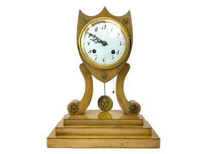 Lot 1113-A 19TH CENTURY BIEDERMEIER MANTEL CLOCK