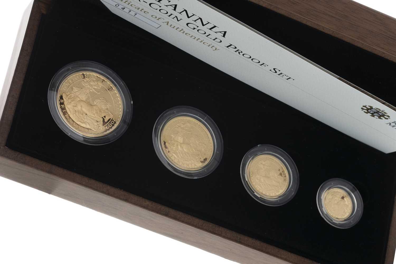 Lot 41 - THE 2009 BRITANNIA FOUR COIN GOLD PROOF COIN SET