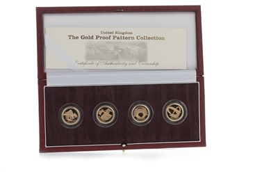 Lot 44-THE QUEEN ELIZABETH II (1952 - PRESENT) GOLD PROOF PATTERN FOUR COIN COLLECTION