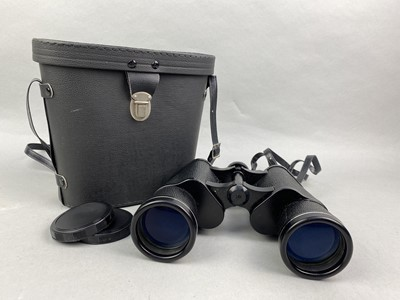 Lot 16-A LOT OF TWO PAIRS OF BINOCULARS ALONG WITH CAMERAS