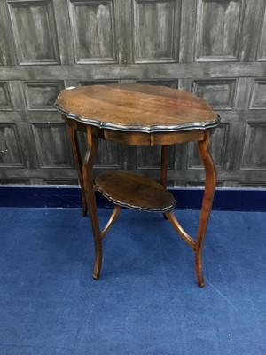 Lot 18-AN OAK TWO TIER OCCASIONAL TABLE