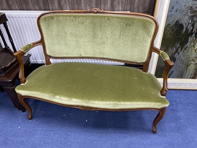 Lot 19-A 20TH CENTURY PARLOUR SETTEE