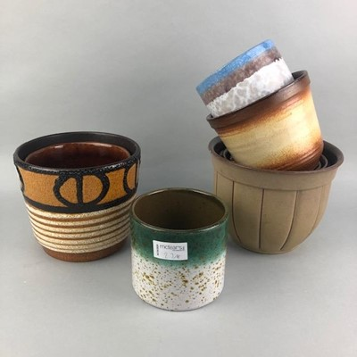 Lot 23-A LOT OF WEST GERMAN POTTERY PLANTERS