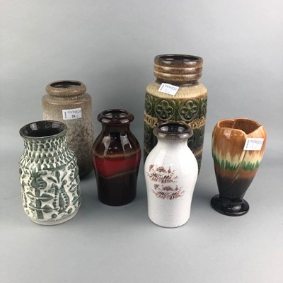 Lot 26-A LOT OF WEST GERMAN POTTERY VASES