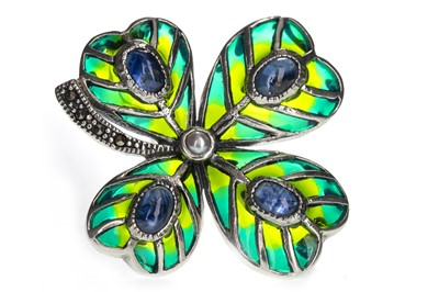 Lot 1426-A PLIQUE A JOUR FOUR LEAF CLOVER BROOCH
