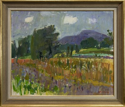 Lot 543-SUMMER DAY, PROVENCE, AN OIL BY JOHN CUNNINGHAM