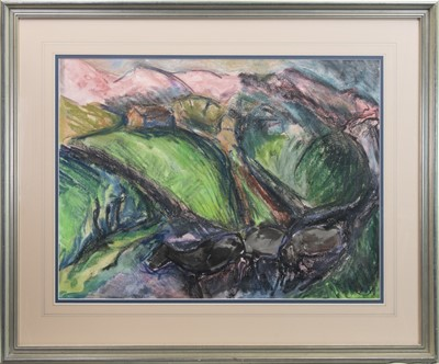 Lot 84 - KERRY LANDSCAPE I, A PASTEL BY JOHN AUSTIN-WILLIAMS