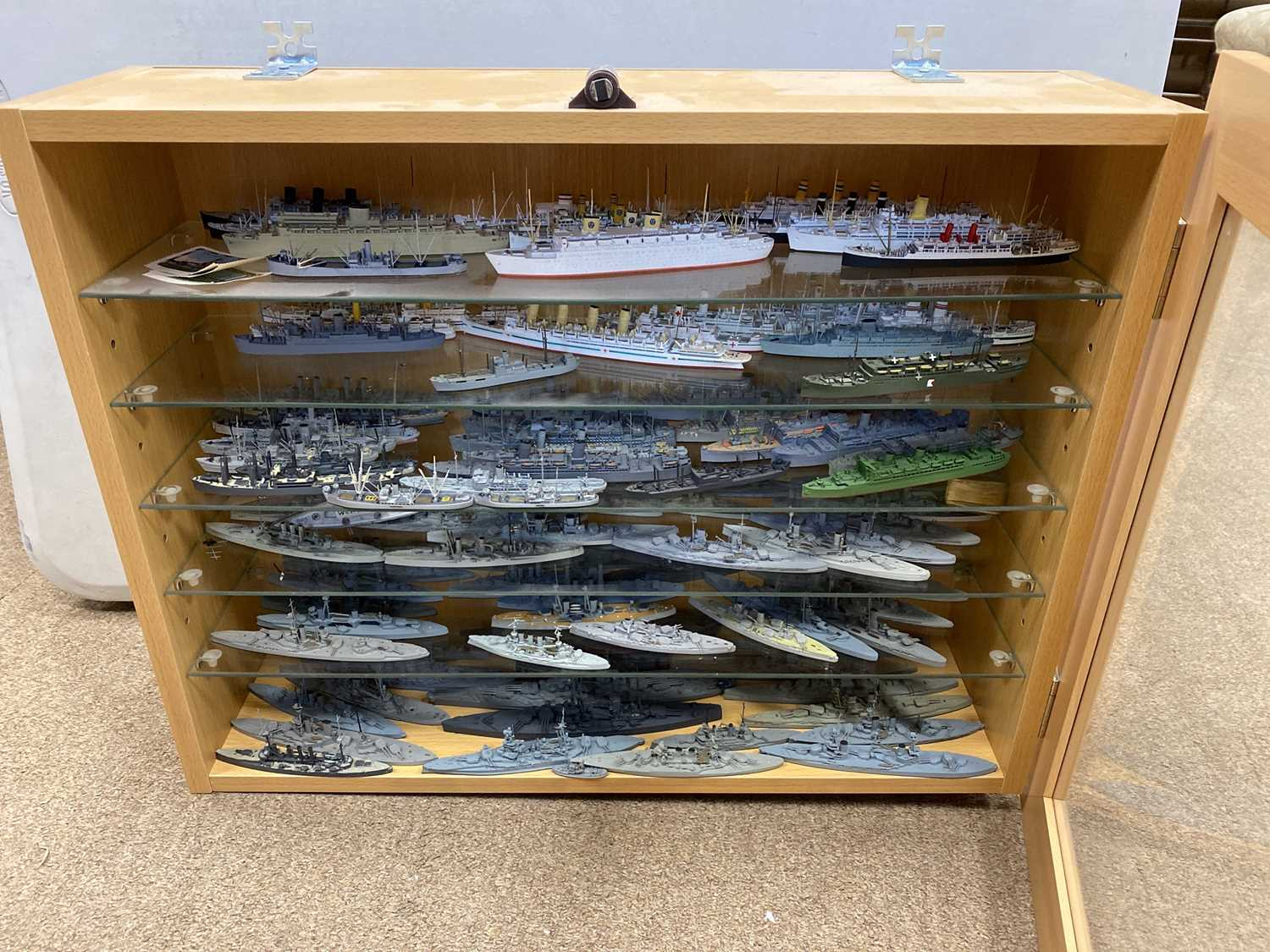 Lot 1730 - A COLLECTION OF WATERLINE MODEL SHIPS