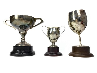 Lot 1713 - A LOT OF THREE BURNHAM YACHT CLUB SILVER TROPHIES AWARDED TO IWUNDA