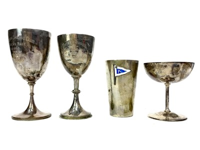 Lot 1714 - A LOT OF FOUR SILVER TROPHY CUPS