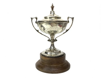 Lot 1712 - A SILVER TROPHY CUP AWARDED TO IWUNDA 1923