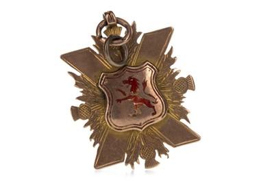 Lot 1710 - A LANARKSHIRE JUVENILE LEAGUE GOLD MEDAL