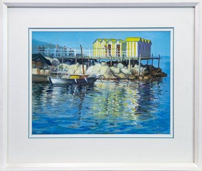 Lot 403-MARINA GRANDE, SERRENTO, A GOUACHE BY MARGARET EVANS
