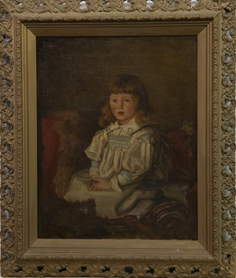 Lot 2-PORTRAIT OF A YOUNG GIRL, AN OIL