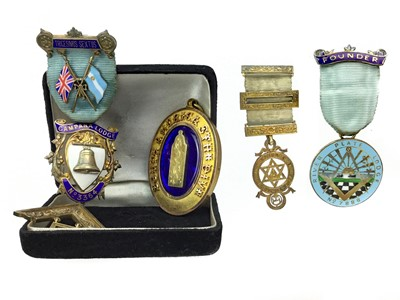 Lot 1314-A COLLECTION OF SILVER GILT AND OTHER MASONIC JEWELS