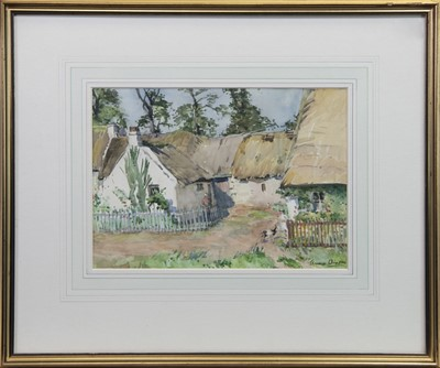 Lot 408-IN THE GARDEN, A WATERCOLOUR BY ANNA DIXON