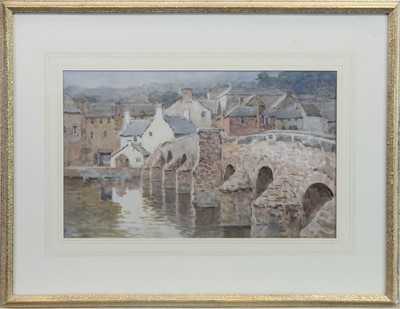 Lot 409-DEVORGILLA BRIDGE, DUMFRIES, A SCOTTISH SCHOOL WATERCOLOUR
