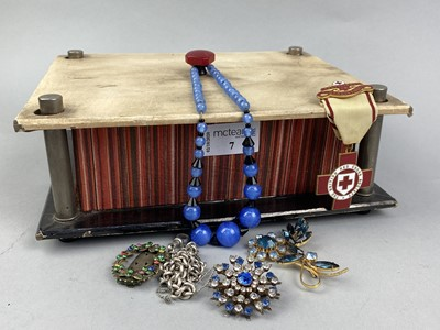 Lot 7-A COLLECTION OF SILVER AND COSTUME JEWELLERY