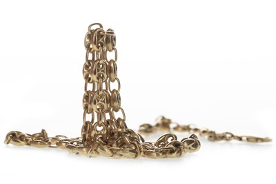 Lot 313-A GOLD ANCHOR LINK CHAIN