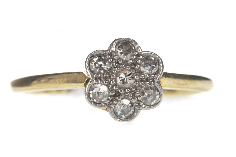 Lot 319-A DIAMOND DAISY CLUSTER RING