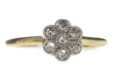 Lot 319-A DIAMOND DAISY CLUSTER RING