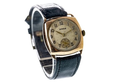 Lot 726-A GENTLEMAN'S AUDAX NINE CARAT GOLD MANUAL WIND WRIST WATCH