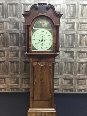 Lot 1121-A 19TH CENTURY MAHOGANY LONGCASE CLOCK
