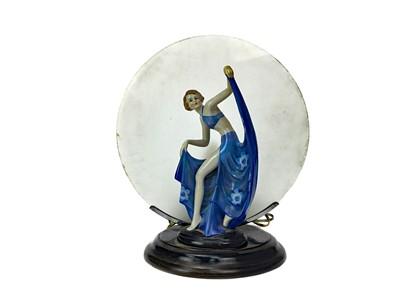 Lot 1330 - AN ART DECO CHROME TABLE LAMP