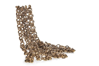 Lot 303-TWO GOLD CHAINS