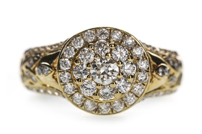Lot 329-A DIAMOND DRESS RING