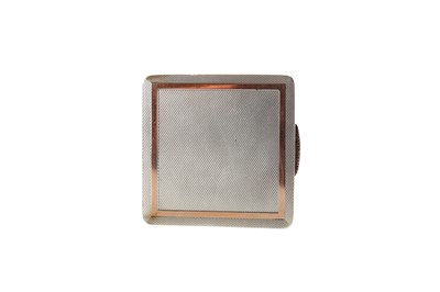 Lot 404 - AN ASPREY OF LONDON BICOLOUR SILVER COMPACT