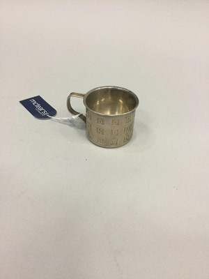 Lot 405 - A CARTIER SILVER CHRISTENING CUP