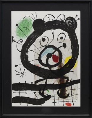 Lot 74 - SEVEN ABSTRACT LITHOGRAPHS BY JOAN MIRO
