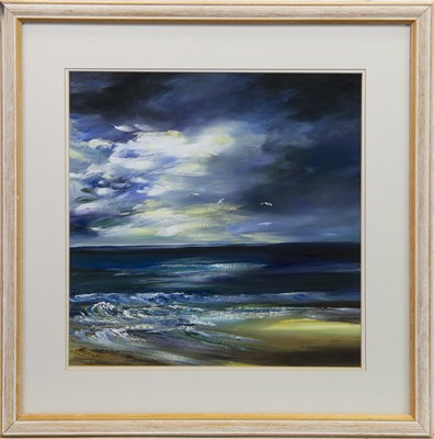 Lot 416-SEASCAPE, AN OIL BY LILLIAS BLACKIE