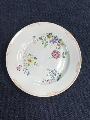 Lot 768 - A PAIR OF 18TH CENTURY CHINESE FAMILLE ROSE CIRCULAR PLATES